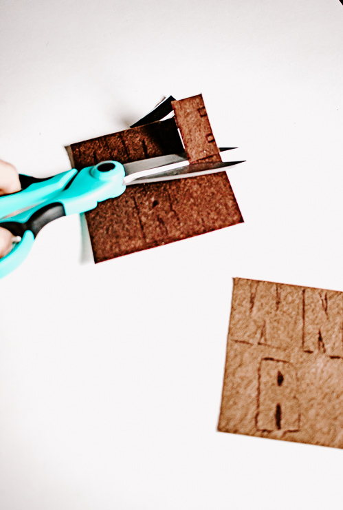 Cut your Letters out of Felt after tracing
