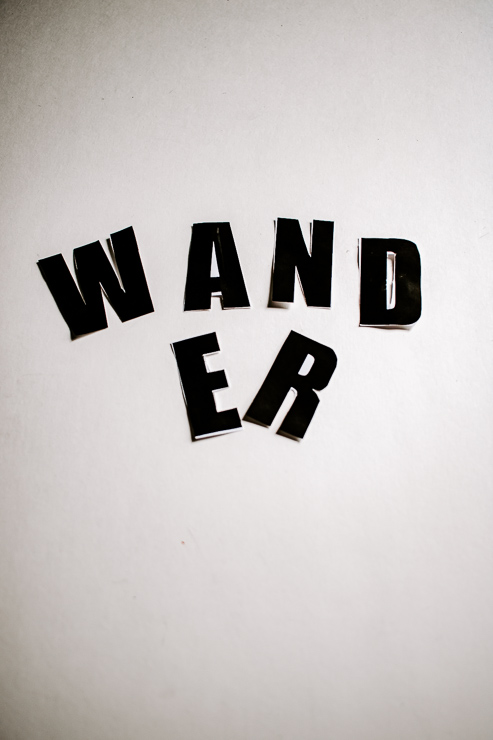 Cut out letters from paper word template