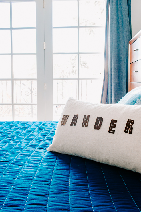 DIY Felt Letter Pillow Cover perfect for Kids Rooms