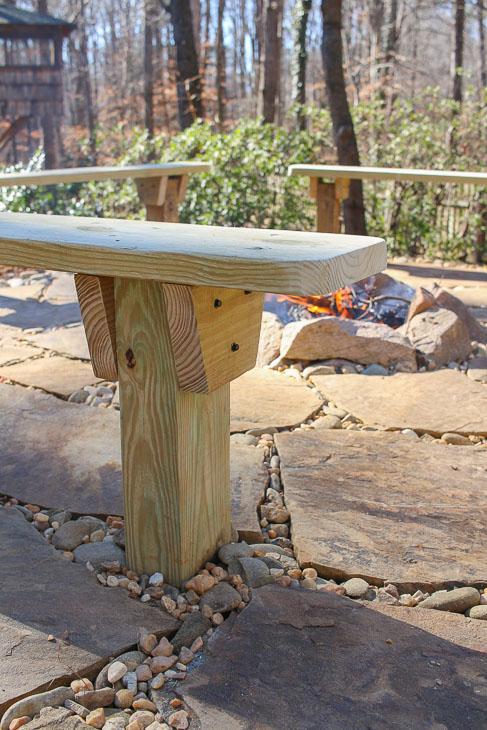 Incredible Diy Built In Fire Pit Benches Pretty Handy Girl Bralicious Painted Fabric Chair Ideas Braliciousco