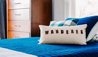 DIY Wanderer Felt Pillow