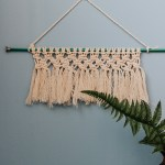 Hang up your Mini Macrame Wall Hanging