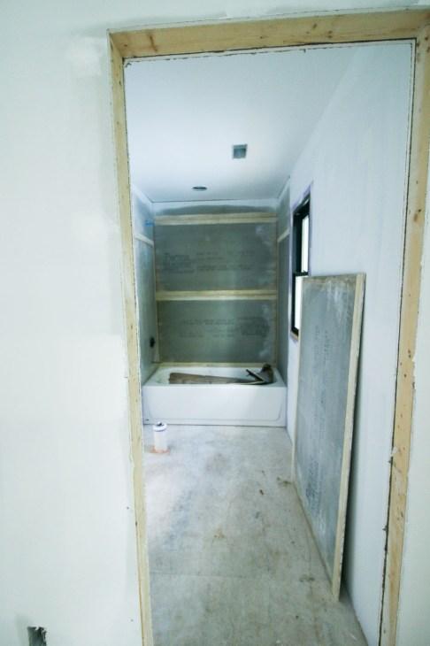 Upstairs Bathroom Permabase Installed