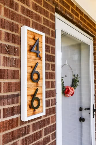 homemade house number sign