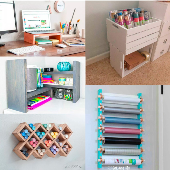 Small DIY projects for craft room storage
