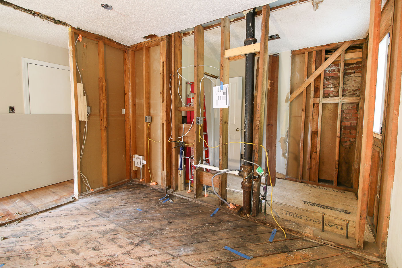Millie S Remodel Framing Electrical Plumbing Oh My Pretty Handy Girl