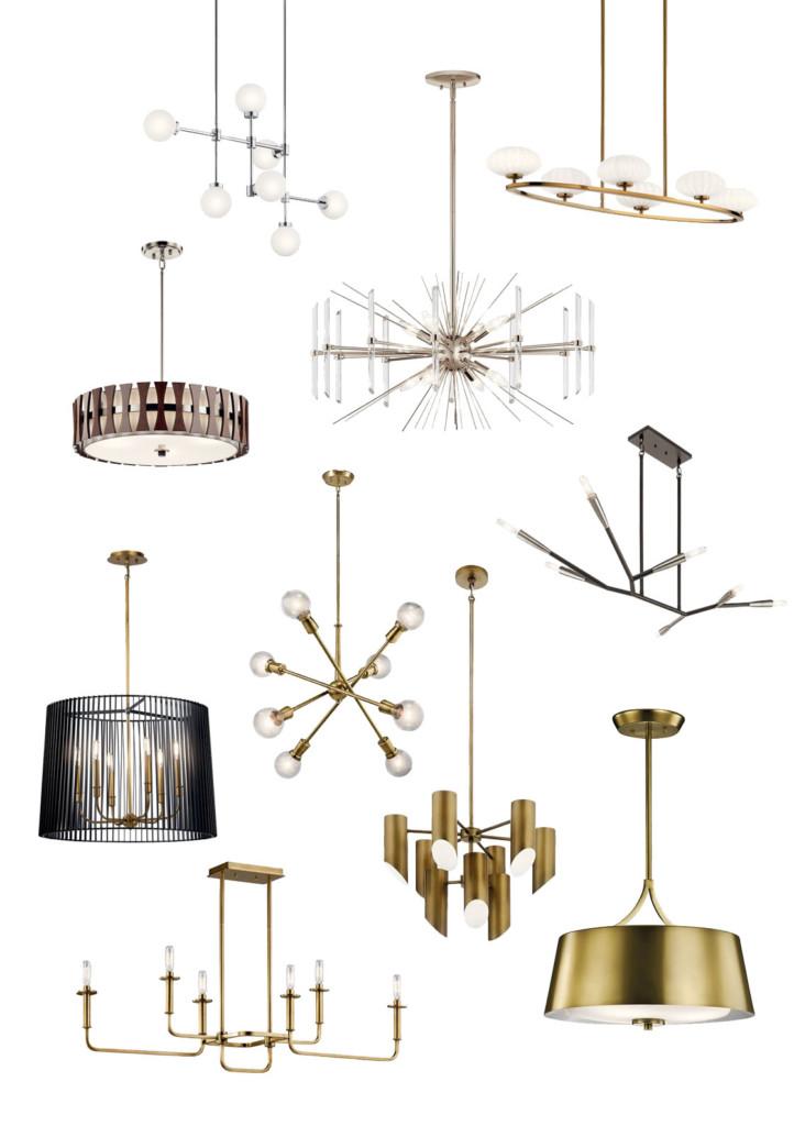mid century modern lighting options for