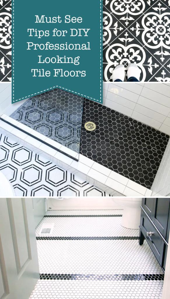 professional looking tile floors