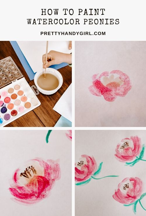 How to Paint Watercolor Peony Flowers