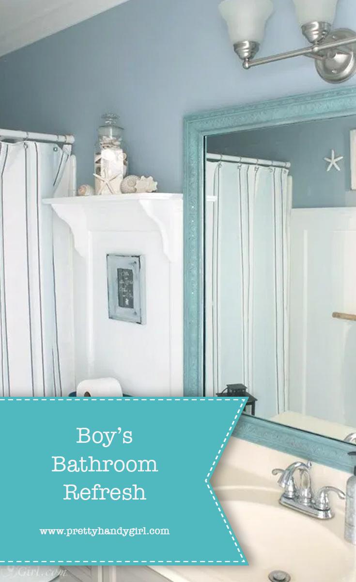 How to Refresh a Boy's Bathroom | Pretty Handy Girl