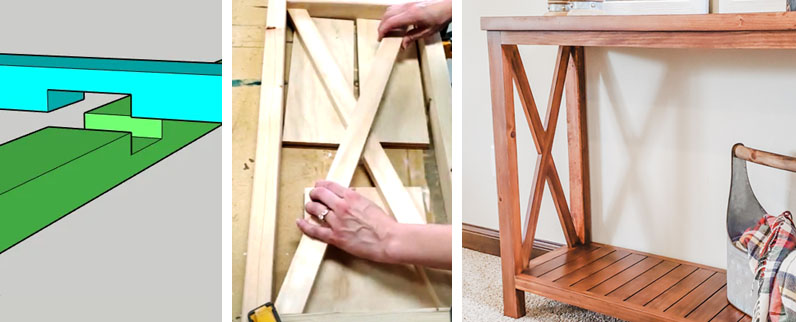 How To Make A Half Lap Joint With A Miter Saw Pretty Handy Girl