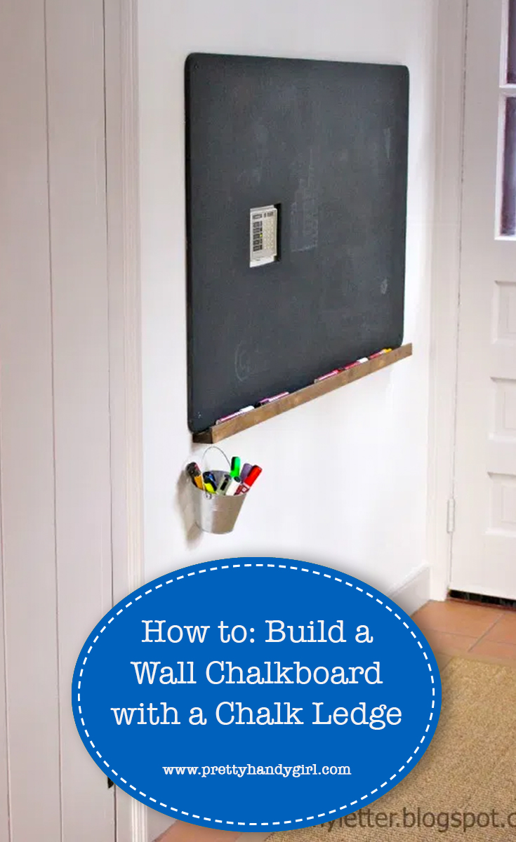 How to easily add a chalk ledge to your chalkboard   Pretty Handy Girl
