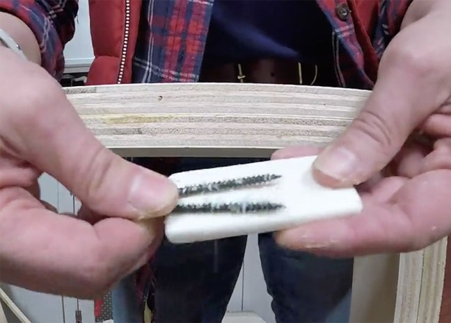 rub screws on soap to make them go easier into hard wood or multiple layers of wood