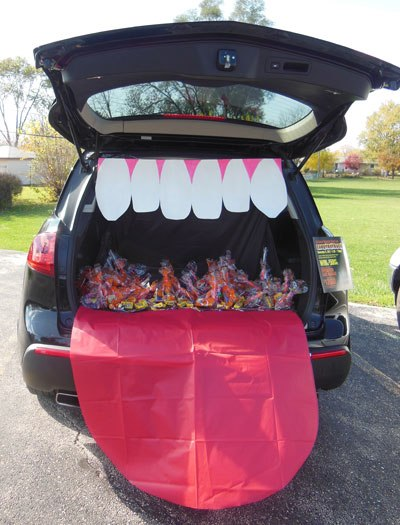 Trunk or treat for contactless trick or treating
