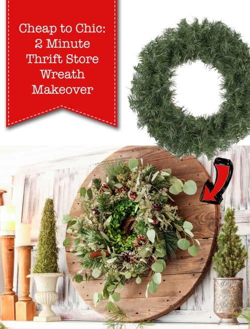 Cheap to Chic: 2 Minute Thrift Store Makeover
