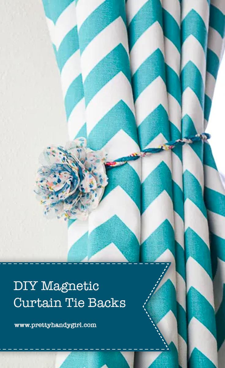 https www prettyhandygirl com diy magnetic curtain tie backs