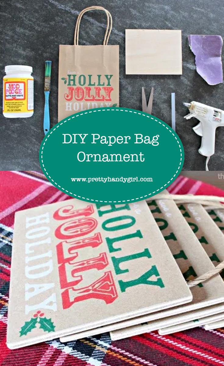 DIY Paper Bag Ornament   Pretty Handy Girl
