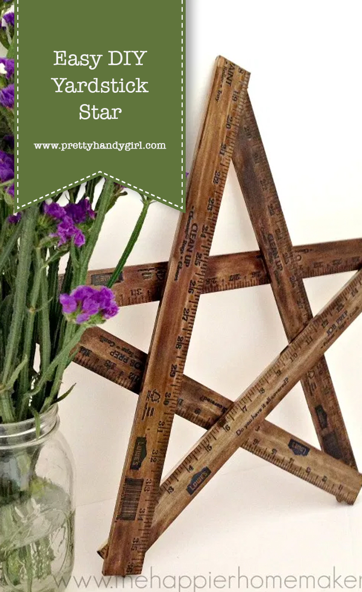 Easy DIY Yardstick Star | Pretty Handy Girl