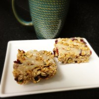 Pistachio Cranberry Orange Granola Bars with Greek Yogurt Drizzle