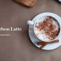 Bourbon Latte with Cinnamon