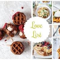 Love List 3/25/15: Waffle Recipes