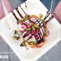 Waffles + Ice Cream at Neuhaus