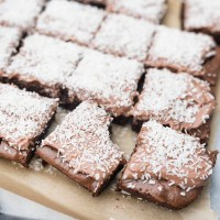 Fudge Brownies with Shredded Coconut