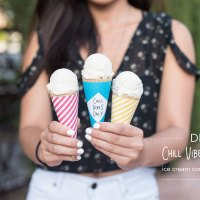 DIY: Chill Vibes Only Ice Cream Cone Wrappers
