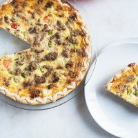 Nana's Sausage, Pepper, and Onion Breakfast Quiche