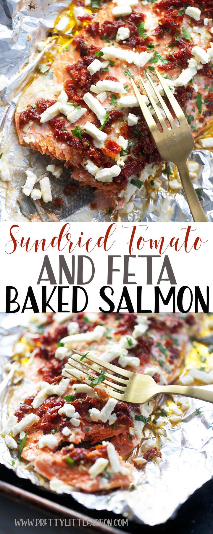 Sundried Tomato Baked Salmon