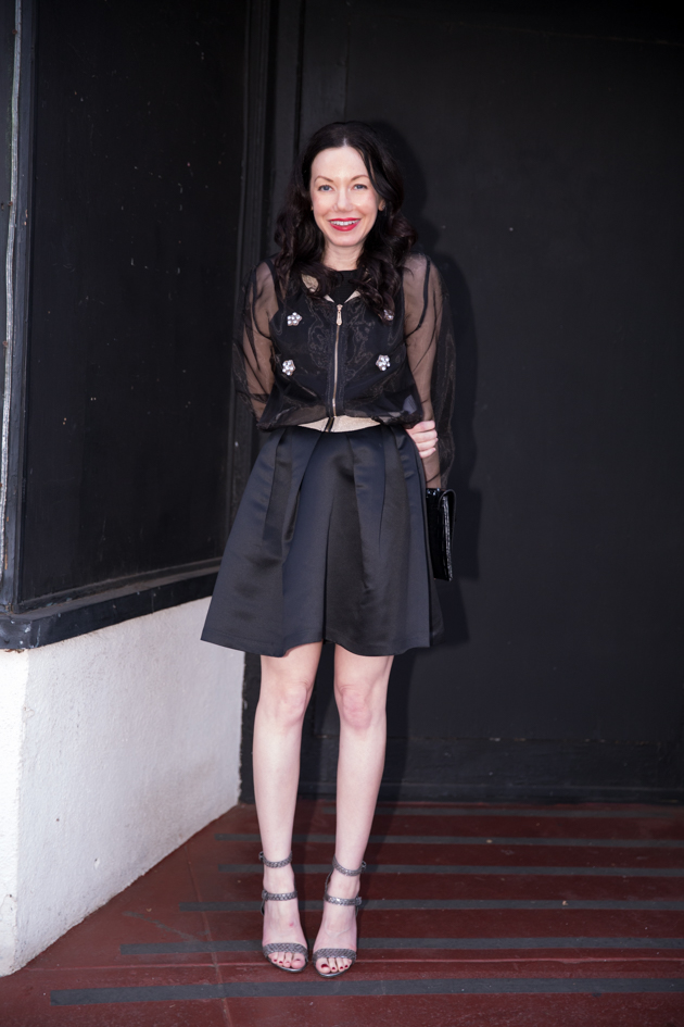 StyleWe Sheer Organza Jacket,