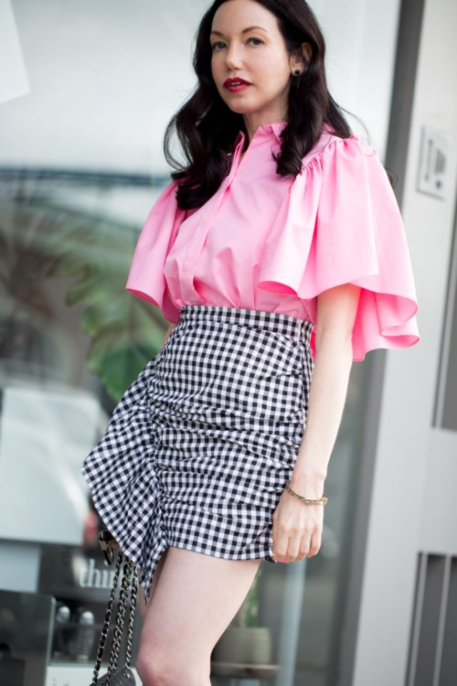 Lisa Valerie Morgan wears Storets Gingham Skirt