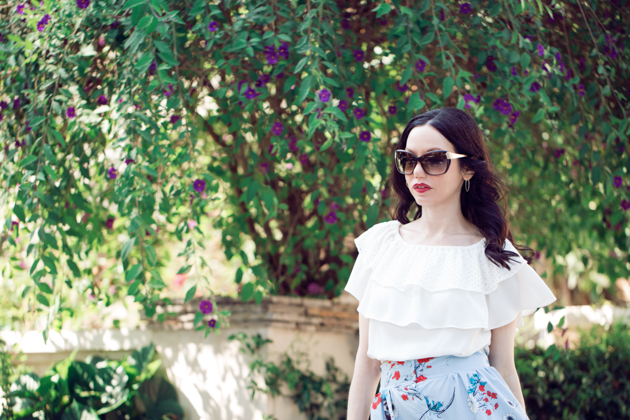 Pretty Little Shoppers Blog - Shein Ruffled Blouse