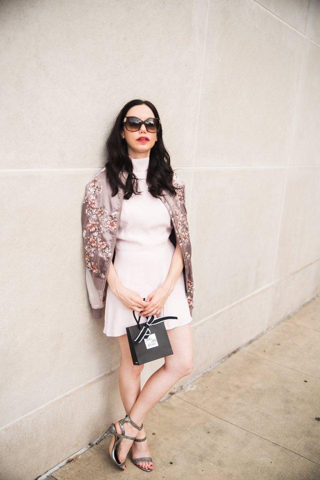 Pretty Little Shoppers Blog wears Keepsake the Label