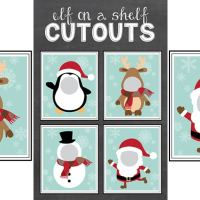 Free Elf on the Shelf Cutout Printables