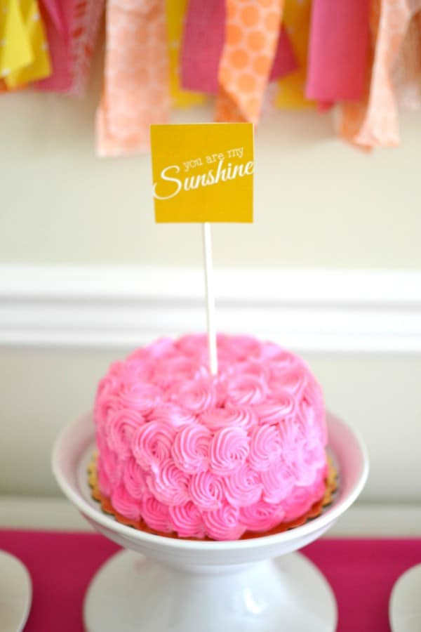 Girly Sunshine Party Theme Pretty My Party