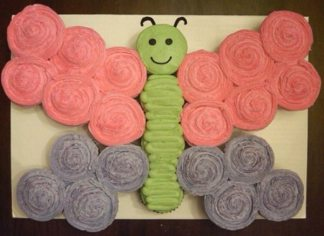 21 Pull Apart Cupcake Cake Ideas Butterfly | Pretty My Party