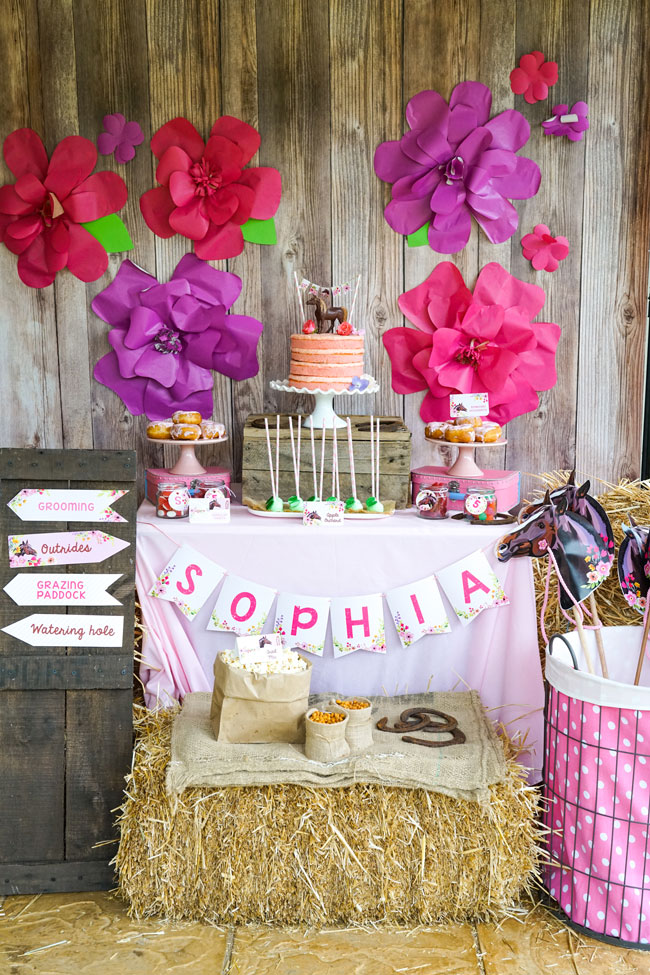 Rustic Horse Birthday Party For Girls Pretty My Party