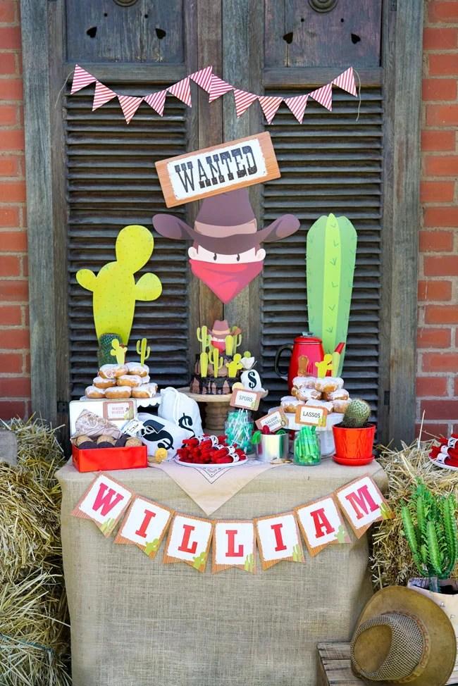 Wild West Cowboy Themed Birthday Party Pretty My Party