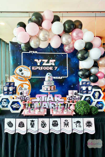 Star Wars Girl Birthday Party Pretty My Party Party Ideas