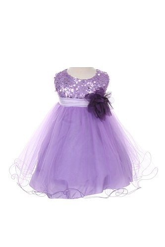 Kids Dream Sequin Mesh Flower Girl Dress Infant Toddler Little Girl