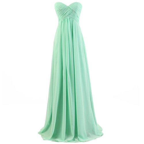 Dresstells® Sweetheart Bridesmaid Chiffon Prom Dresses Long Evening Gowns
