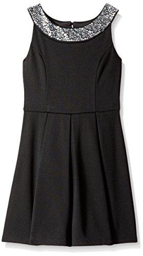 Amy Byer Big Girls' Box-Pleat Dress with Beaded Neckline