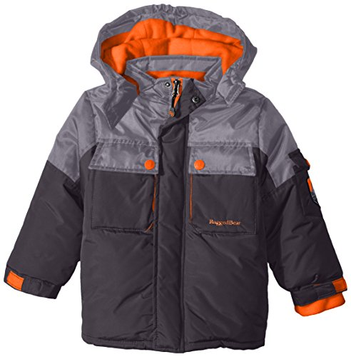 Rugged Bear Boys' Heavyweight Jacket with Hood