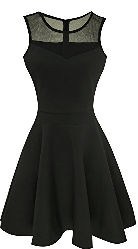 Heloise Women's A-Line Sleeveless Pleated Little Cocktail Party Dress