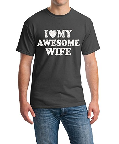 Shop4Ever® I Love My Awesome Wife T-shirt Couples Shirts