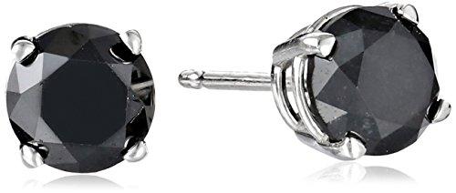 Black Diamond Stud Earrings 14k Gold