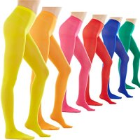 Women's 80 Denier Semi Opaque Solid Color Footed Pantyhose Tights 2Pair/6Pair