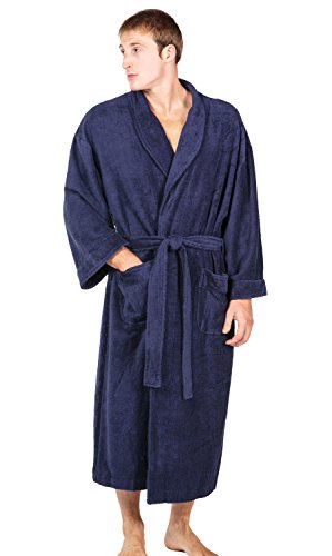 Texere Men's Terry Cloth Bathrobe Robe (EcoComfort) Luxury Gifts for Him