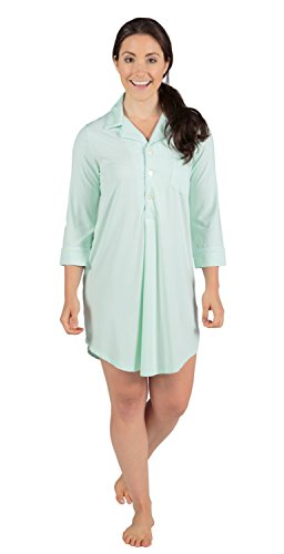 Texere Women's Bamboo Sleep Shirt (Zenrest) Luxury Sleepwear